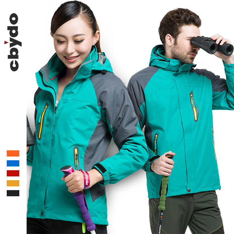 Cbydo Quần áo leo núi Áo khoác nhà sản xuất áo khoác ngoài trời mùa đông lông cừu chống gió ba trong