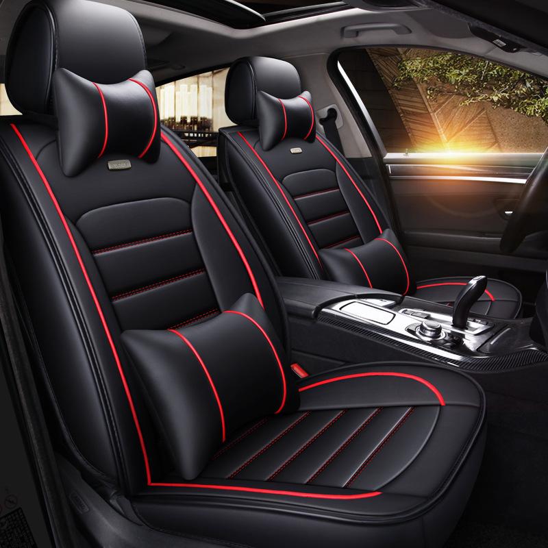 OUBANNI Drap bọc ghế xe hơi XD52 Xe da thời trang Dani bốn mùa đệm da mùa xuân và mùa hè ghế phụ xe