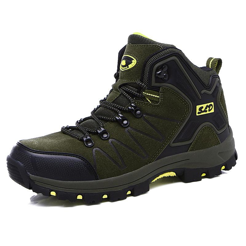 FASHION Giày đi bộ thể thao ngoài trời mới Giày nam đi giày chống trượt da cao để giúp giày đơn nữ G