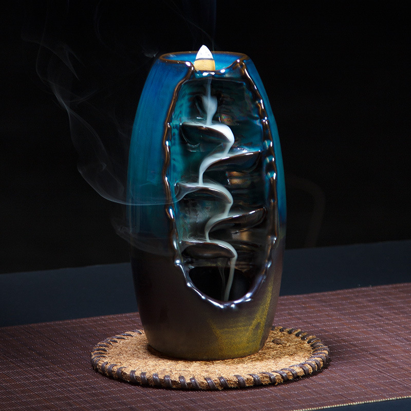 CIZHIYIN Backflow hương đốt gốm đốt nhang hun khói sản phẩm gỗ đàn hương đốt đường hương lớn đốt nhà