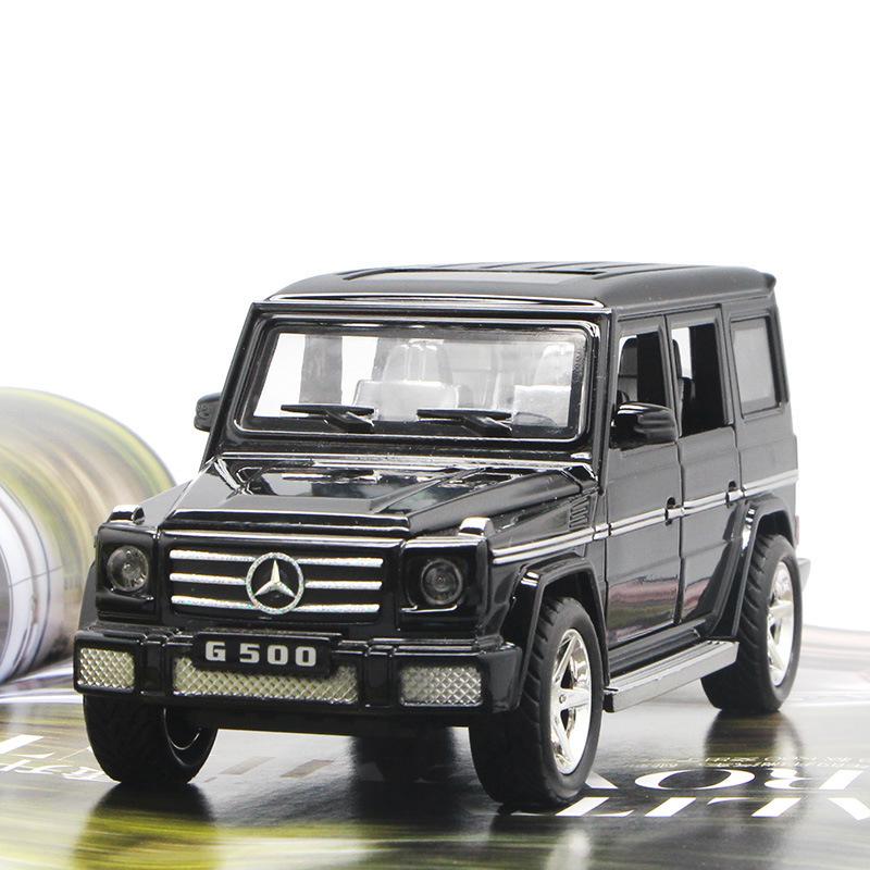 Mô hình xe 1:30 Mô hình xe hợp kim Mercedes-Benz G500 Nhạc nhẹ trở lại 6 cửa mở Trang trí xe trang s