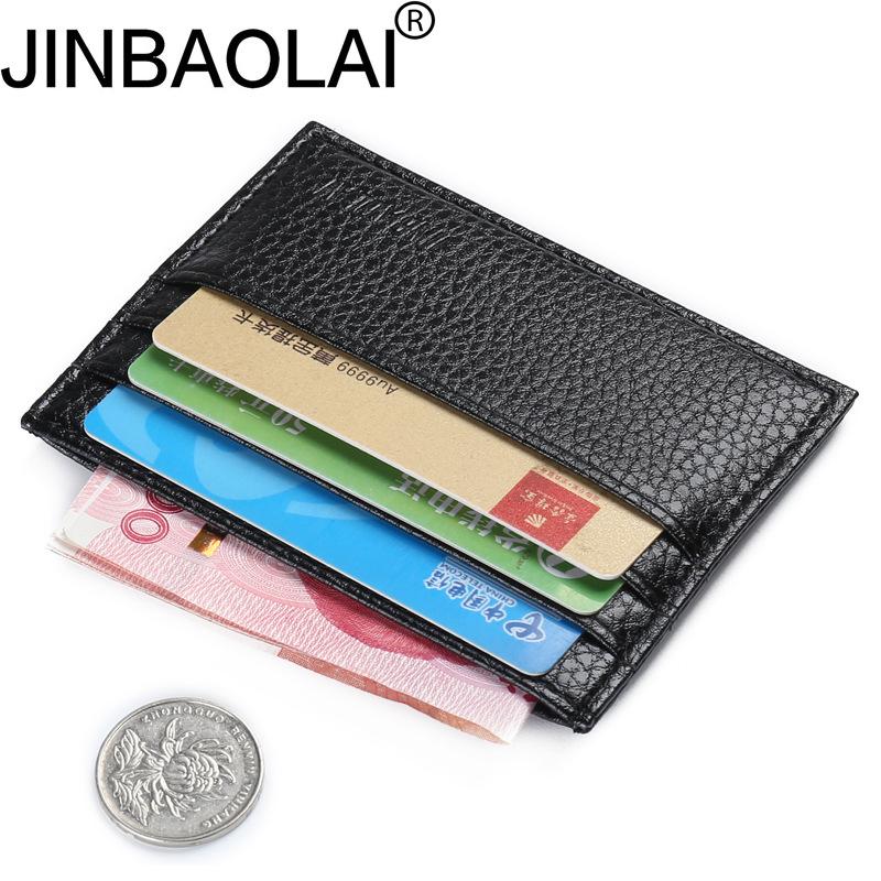 JINBAOLAI Ví đựng thẻ Nhà máy trực tiếp JINBAOLAI gói thẻ siêu mỏng nam đa vị trí đồng xu ví nhỏ thẻ