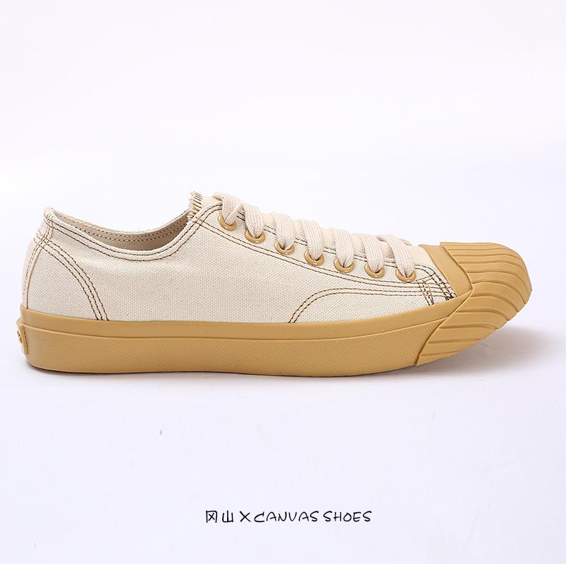 giày vải Ami Nhật Bản Giày vải Okayama Kurume Giày lưu hóa Nhật Bản đôi nam nữ thấp để giúp giày thư