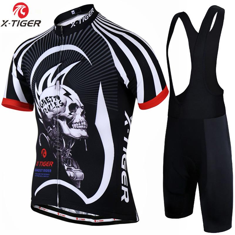 X-TIGER Trang phục xe đạp xuyên biên giới New Jersey dây đeo tay ngắn đặt đàn ông ngoài trời mùa hè