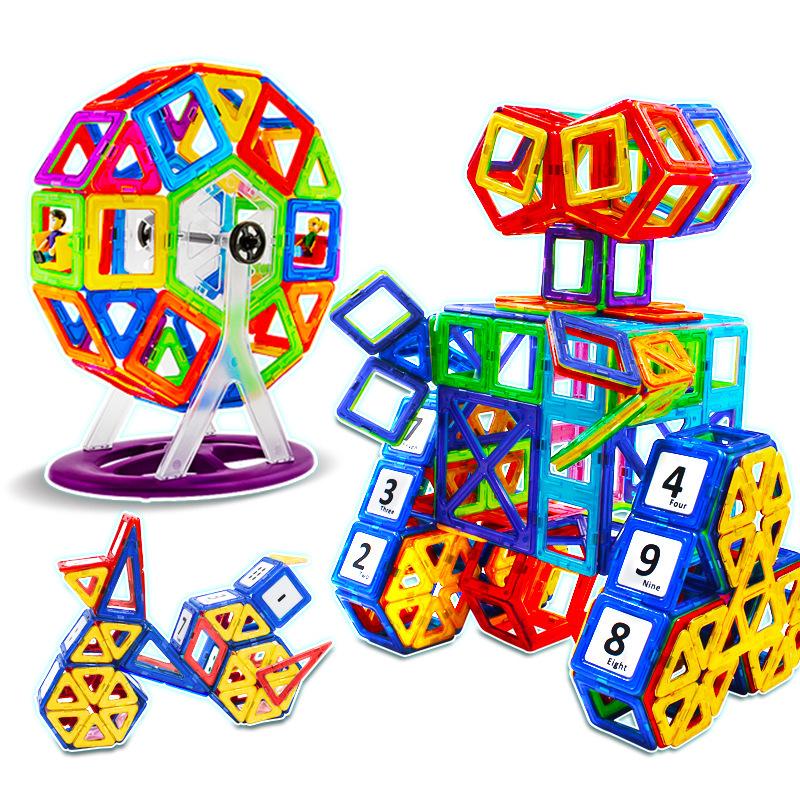 MOCAI Bộ đồ chơi rút gỗ Khối xây dựng từ tính câu đố giáo dục trẻ em bán buôn để xây dựng khối xây d