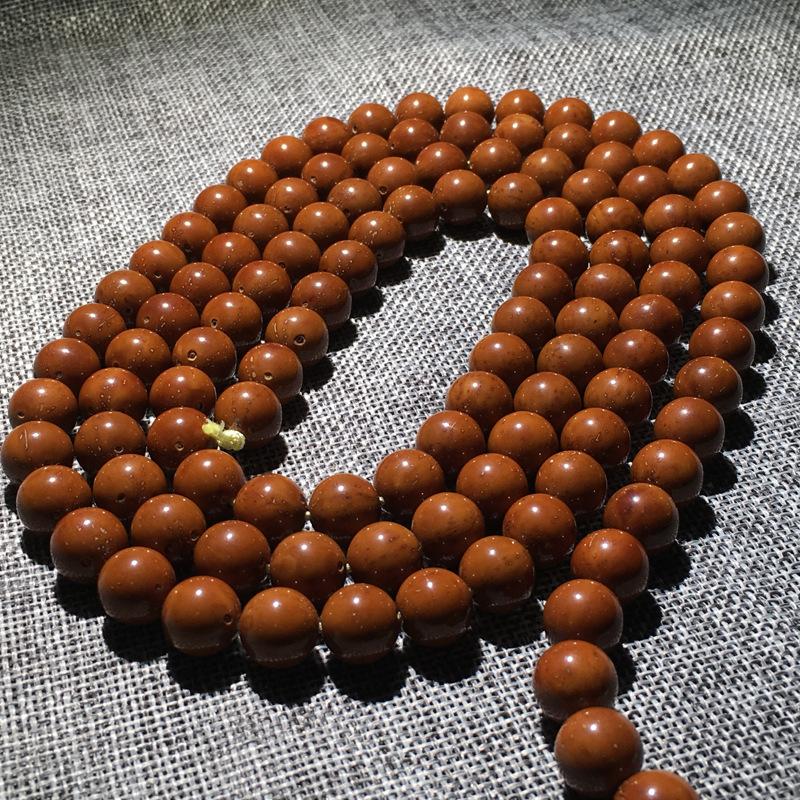 HENGYEU Purple Golden Lotus Bodhi Lucky Rats Hạt tròn Ném cao 108 Hạt Chuỗi hạt cầm tay