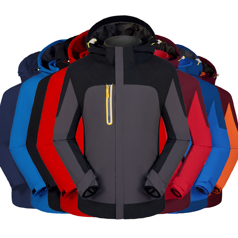 Quần áo leo núi Áo khoác ngoài trời ba trong một không thấm nước nam hai mảnh nữ ấm bắt lông cừu ove