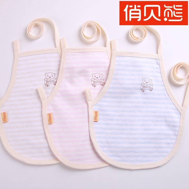 QIAOBEIXIONG Mới tạp dề cotton em bé mùa hè màu bông tạp dề sơ sinh quần áo mùa hè trẻ sơ sinh trẻ e