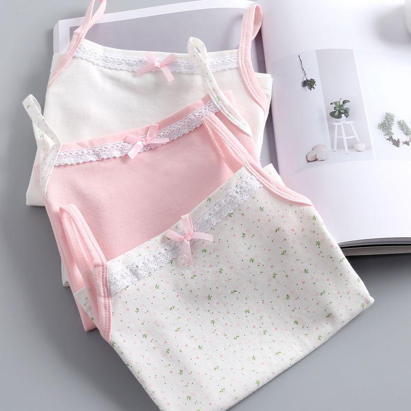 GUONANA Áo ba lỗ / Áo hai dây trẻ em [Ganna]】 Các nhà sản xuất đã ban hành bộ đồ cotton mỏng dành ch