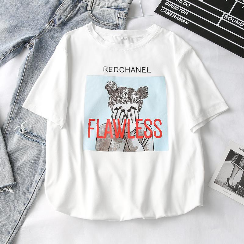 hàng trào lưu mới Một thế hệ hè 2019 phiên bản Hàn Quốc của áo thun nữ mới ngắn tay áo sơ mi nữ bán