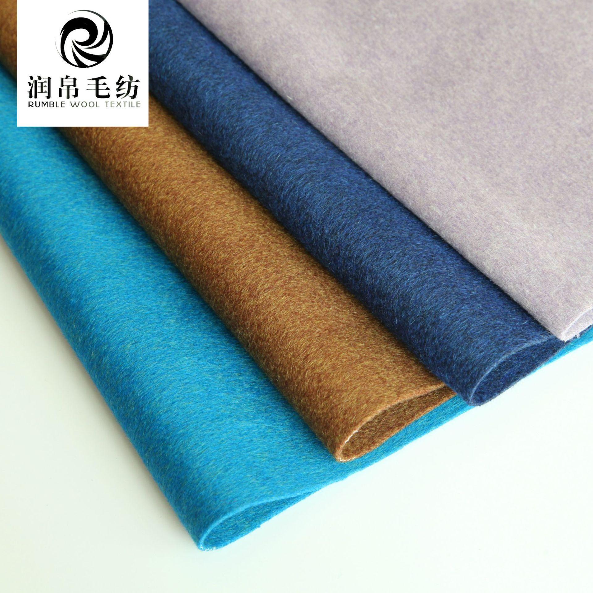RUNGUO Vải dệt may Len dệt hai mặt bằng vải twill tay áo bằng vải len mùa thu và mùa đông thời trang