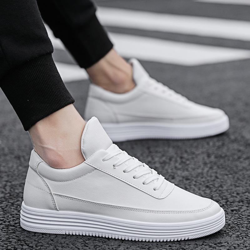 Giày trắng nữ Xuân 2019 giày nam mới phiên bản Hàn Quốc của xu hướng giày trắng hoang dã giúp giày t