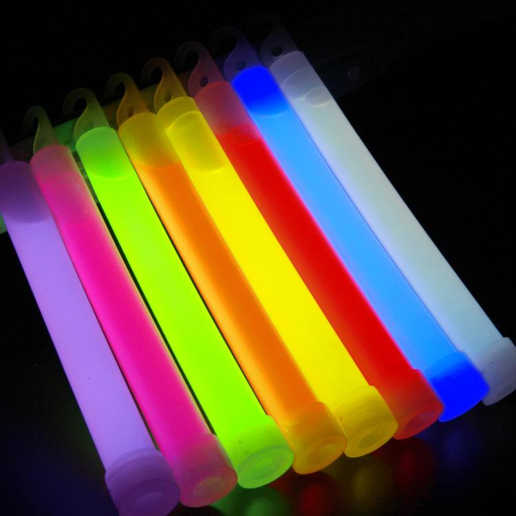 RUNMAN Đồ chơi phát sáng Thanh ánh sáng 6 inch Cây gậy phát sáng 6 inch Đèn thanh đêm nhấp nháy 15 *