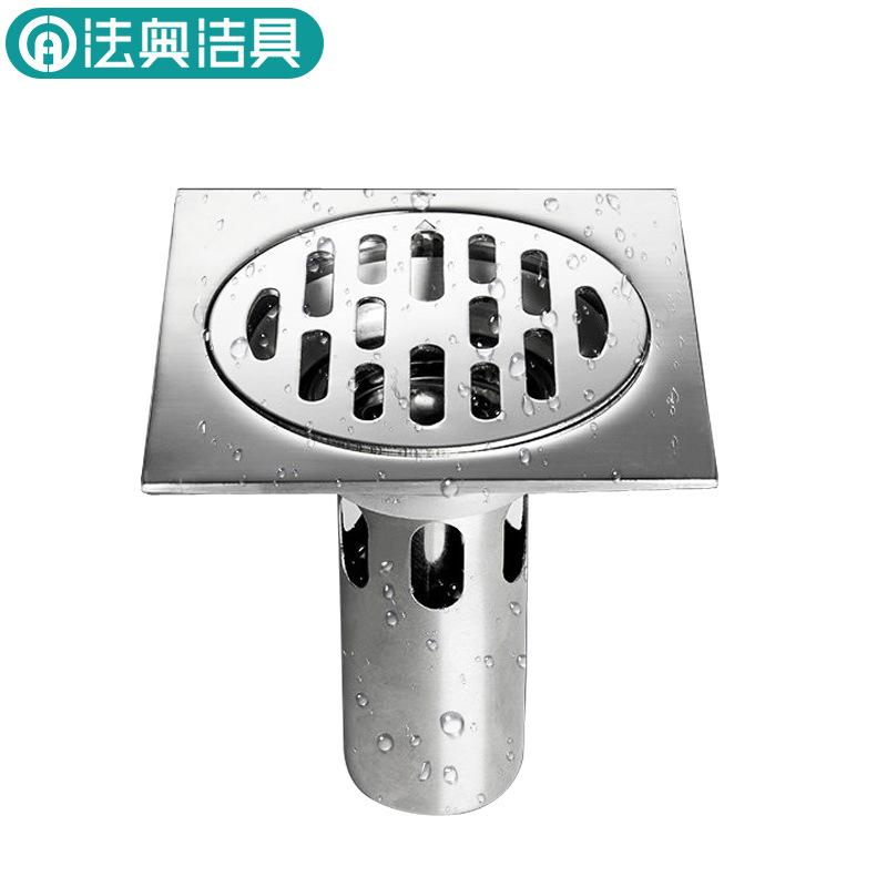 FUAO cống sàn Inox 304 phòng tắm khử mùi sàn cống phòng tắm máy giặt dòng chảy lớn dày lên chống chặ