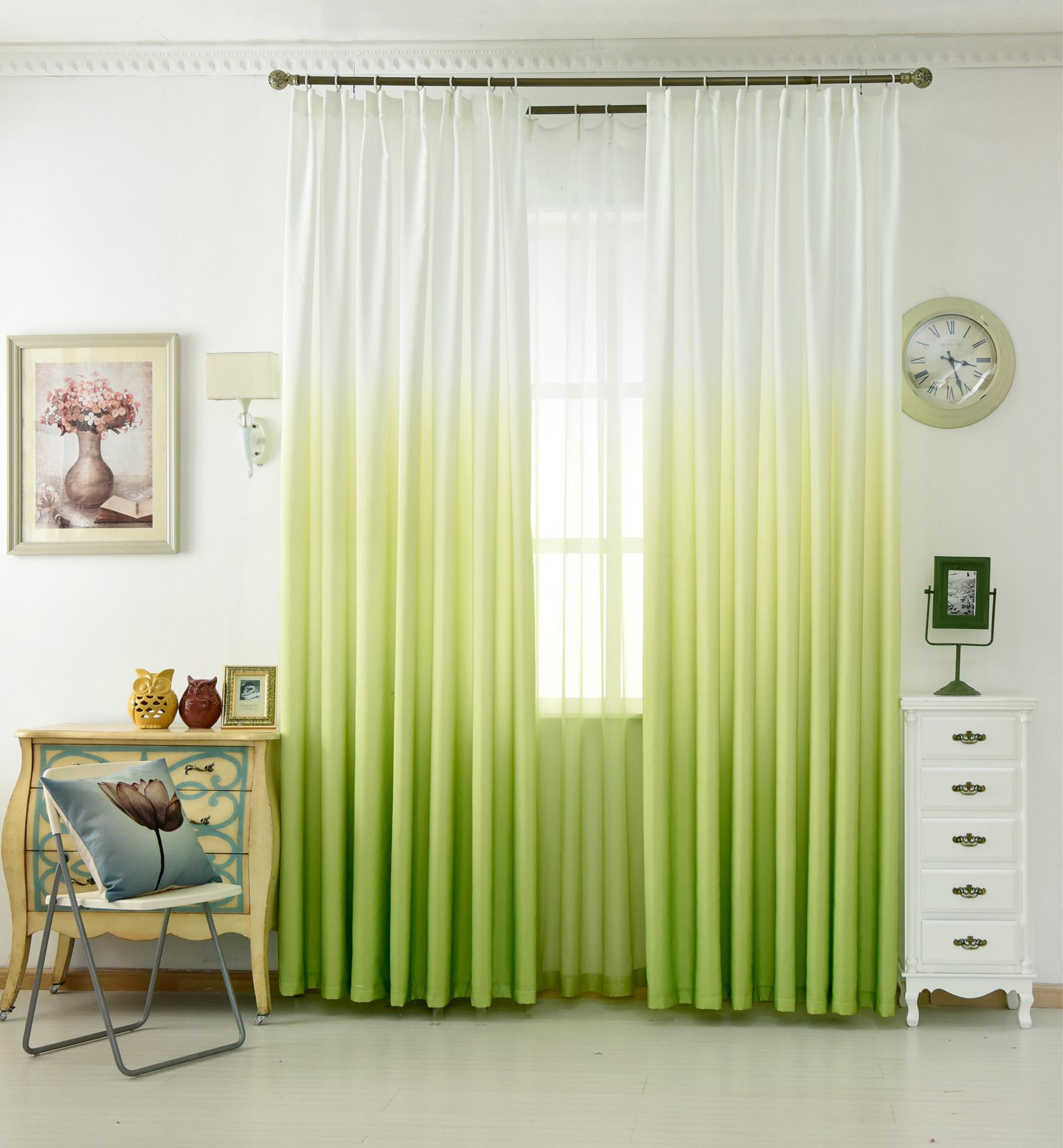 XIAORAN rèm thuỷ tinh Màn hình cửa sổ đơn giản gradient ban công phòng khách phòng ngủ bán buôn hoàn