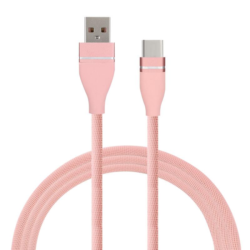 ZHONGXING Dây USB Cáp dữ liệu USB cho cáp sạc điện thoại di động Apple Android type-c 1m một đầu bện