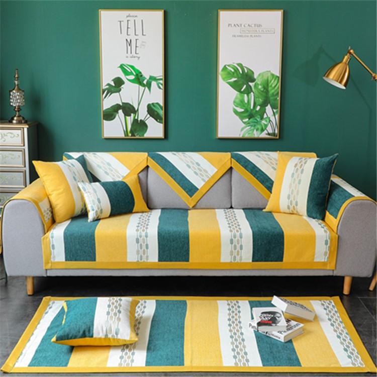 Đệm lót SoFa Bốn mùa chenille phổ quát sofa đệm vải đơn giản hiện đại chống trượt Bắc Âu đệm da sofa