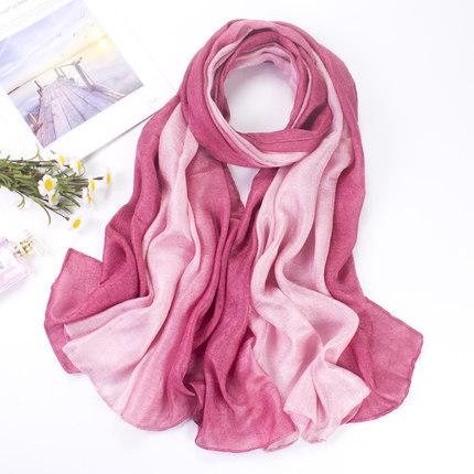 Khăn biến màu Mùa xuân và mùa thu Hàn Quốc của khăn lụa màu gradient Hà Lan Khăn quàng dài hoang dã