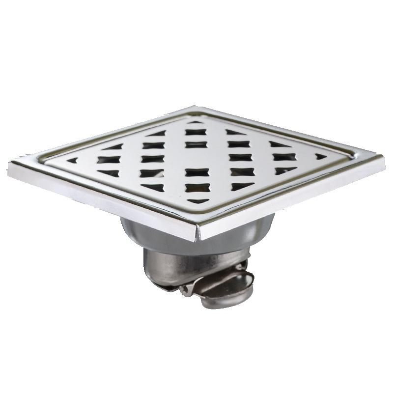 cống sàn Inox sàn thoát nước khử mùi chrome vuông đôi khử mùi cống nhíp khử mùi kỹ thuật thoát sàn
