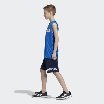 Thị trường trang phục trẻ em  Adidas chính thức Adidas YB TR SET TK cậu bé lớn đào tạo bộ đồ đan tay