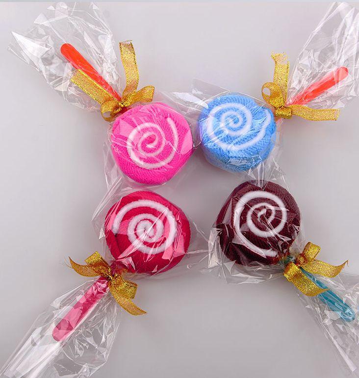 Khăn bánh kem Nhà máy bán buôn ngày thiếu nhi khăn bánh sáng tạo quà tặng kẹo mút đẩy hoạt động khuy