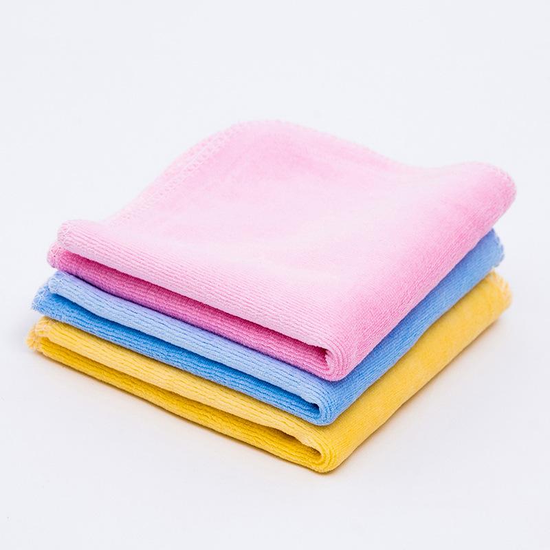 KLMM khăn tay Nhà máy bán buôn nhung bé khăn vuông bé giặt khăn sơ sinh hai lớp khăn tay nhỏ