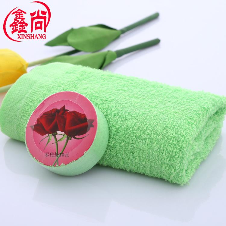 XINSHANG Khăn nén Nhà sản xuất bán buôn tùy chỉnh dùng một lần khăn nén màu bông du lịch nén khăn di