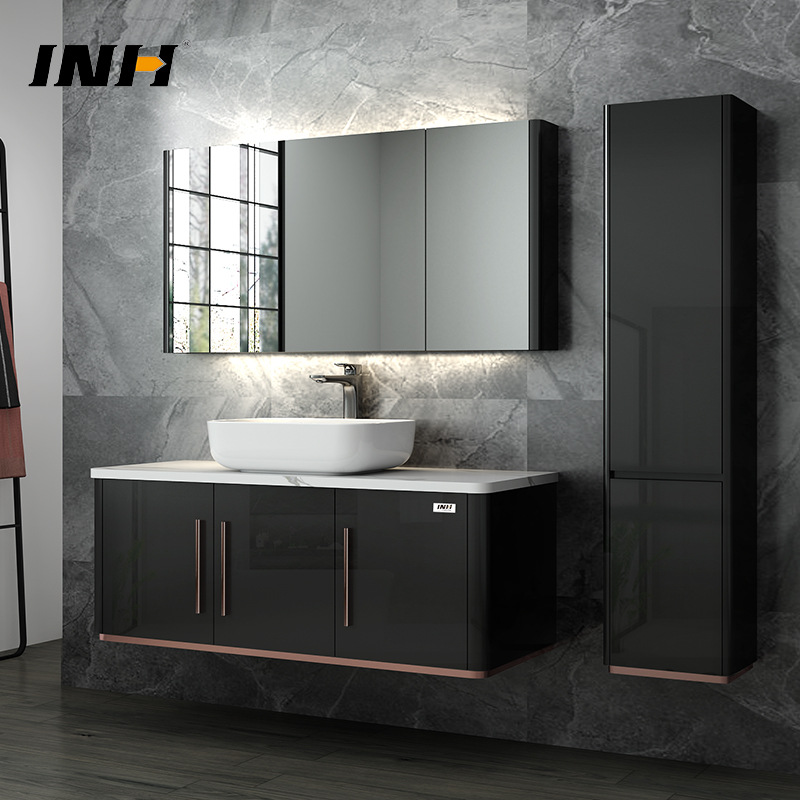 YINFAN Tủ phòng tắm Đơn giản hiện đại nhà sản xuất tủ phòng tắm bán buôn gốm rửa chậu kết hợp tủ gỗ