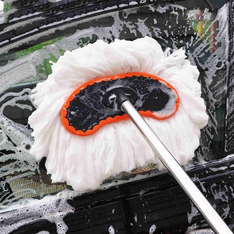 SHUANGLONG bàn chải sáp Long que có thể thu vào sữa rửa xe lau nhà chuyên nghiệp rửa xe lau nano lụa