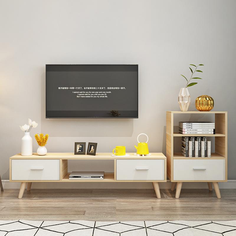OLOEY Kệ Tivi Nhà sản xuất gói phòng khách kết hợp tủ TV phong cách châu Âu lưu trữ tủ hiện đại nhỏ