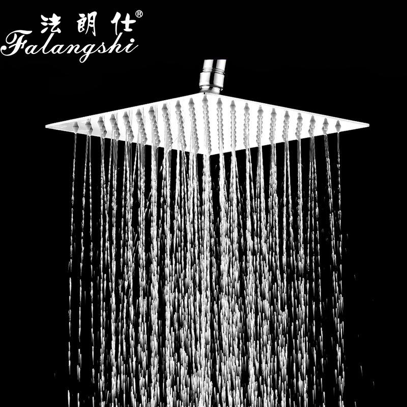 FALANGSHI Khoá cửa Đầu vòi sen inox siêu mỏng 304, đầu vòi sen tăng áp, đầu phun mưa, đầu vòi hoa se