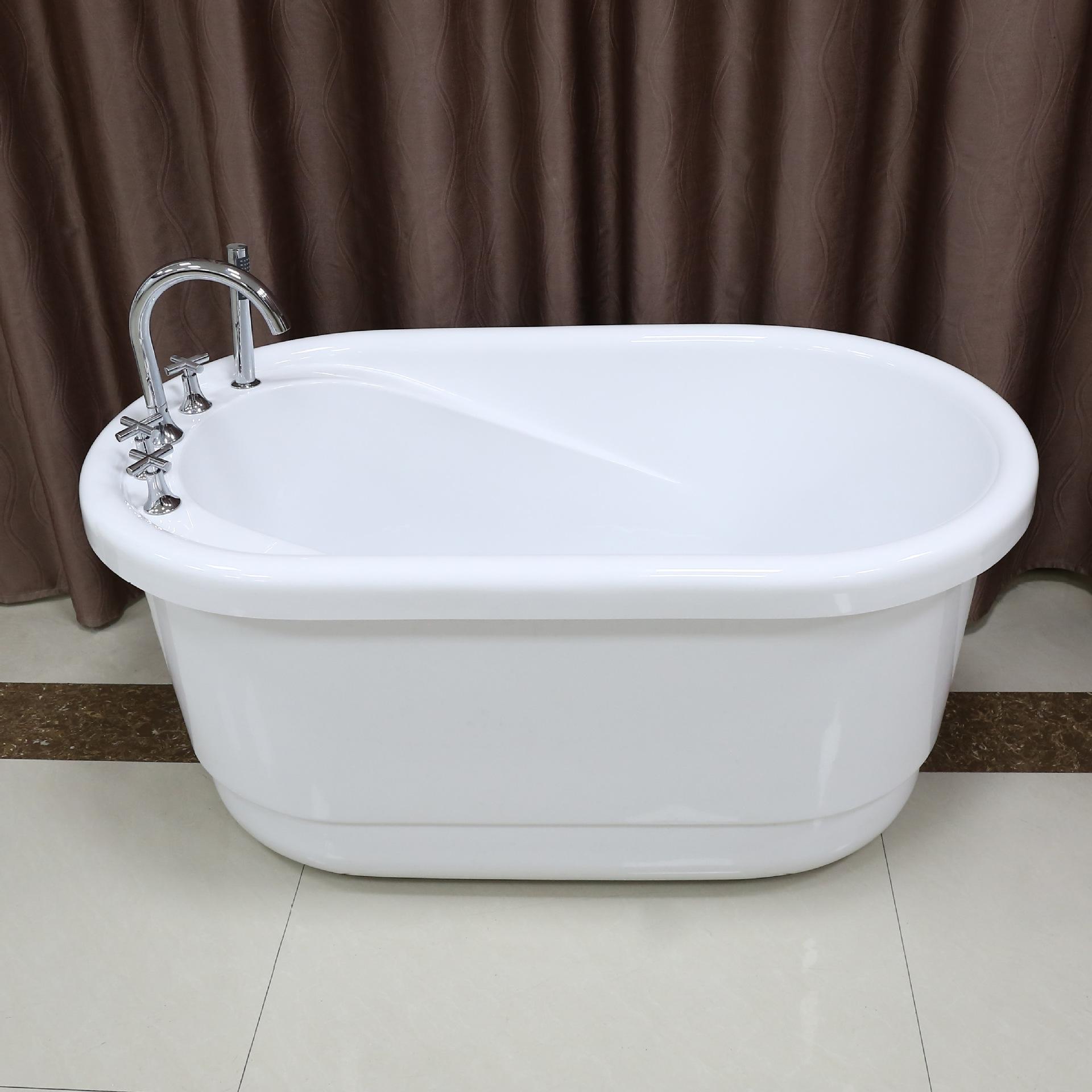 Kadisa Bồn đứng tắm Acrylic bồn tắm đứng miễn phí nhà người lớn phòng tắm sâu bong bóng bồn tắm kích