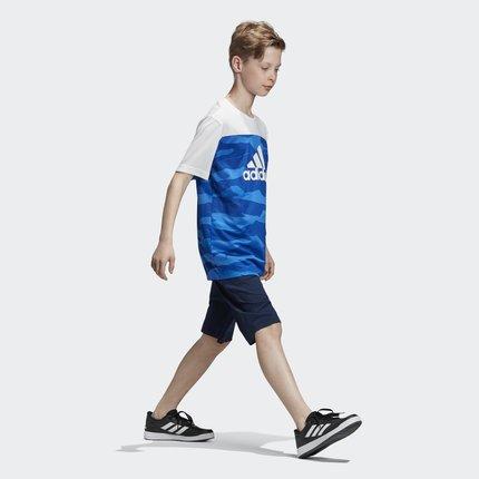 Thị trường trang phục trẻ em  Adidas chính thức Adidas big boy đào tạo bộ đồ đan tay ngắn DV1393 DW5