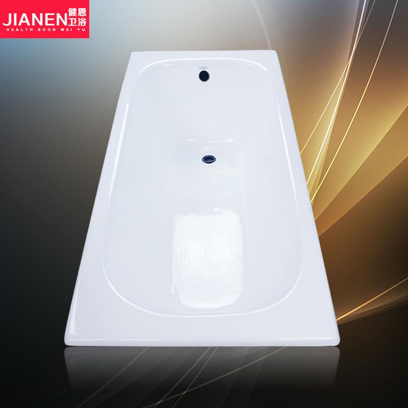 JIANEN Bồn đứng tắm Phòng tắm Jian En nhúng bồn tắm gang tráng men hộ gia đình người lớn gốm sứ nhà