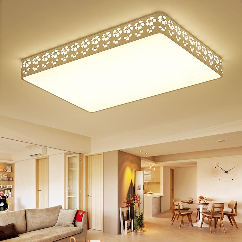 RONGLI Bông tuyết Hình chữ nhật Phòng khách Đèn LED Nhà hàng Sáng tạo Phòng ngủ Đèn trần Hiện đại Đơ