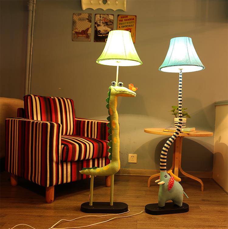 BUYI Đèn âm đất Không phải là một phim hoạt hình ban đầu động vật đèn sàn phòng trẻ em phòng ngủ đầu