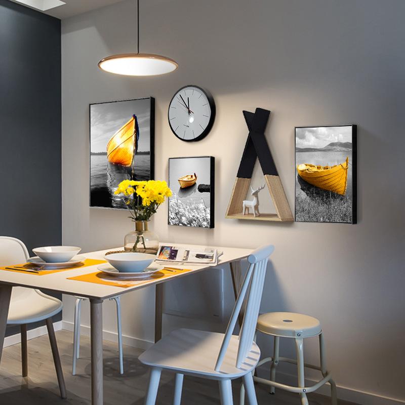 MOPAI Tranh trang trí Phòng khách Bắc Âu sơn trang trí sofa nền tường kết hợp sáng tạo bức tranh tườ