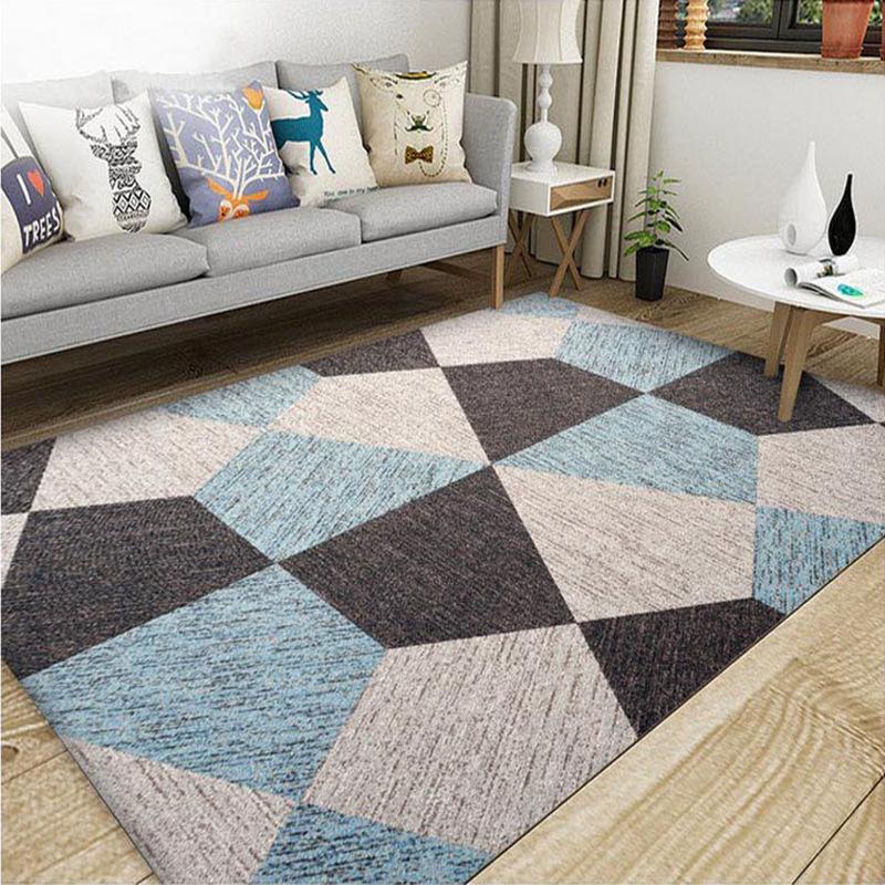 thảm lót Bắc Âu thảm phòng khách sofa bàn cà phê mat hiện đại tối giản phòng ngủ giường đầy đủ cửa h