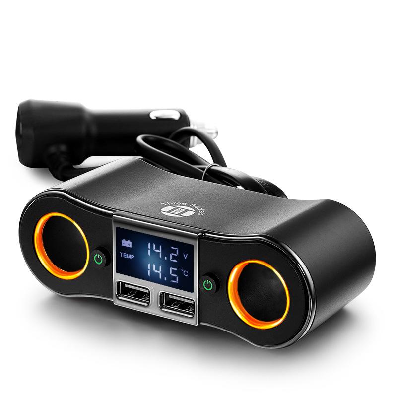 ZHONGXING Cục sạc Sạc xe hơi mới ZNB02 một cho hai sạc xe hơi USB kép điện thoại sạc xe hơi thuốc lá