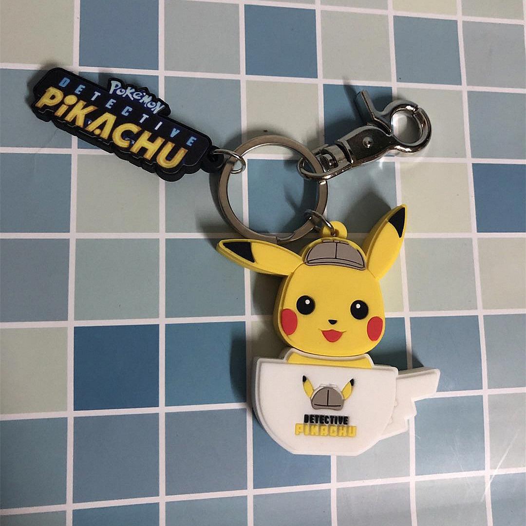 BAOKEMENG USB Thám tử lớn chính hãng Pikachu U đĩa pokemon Pikachu móc khóa 16G USB cung cấp đĩa Pik
