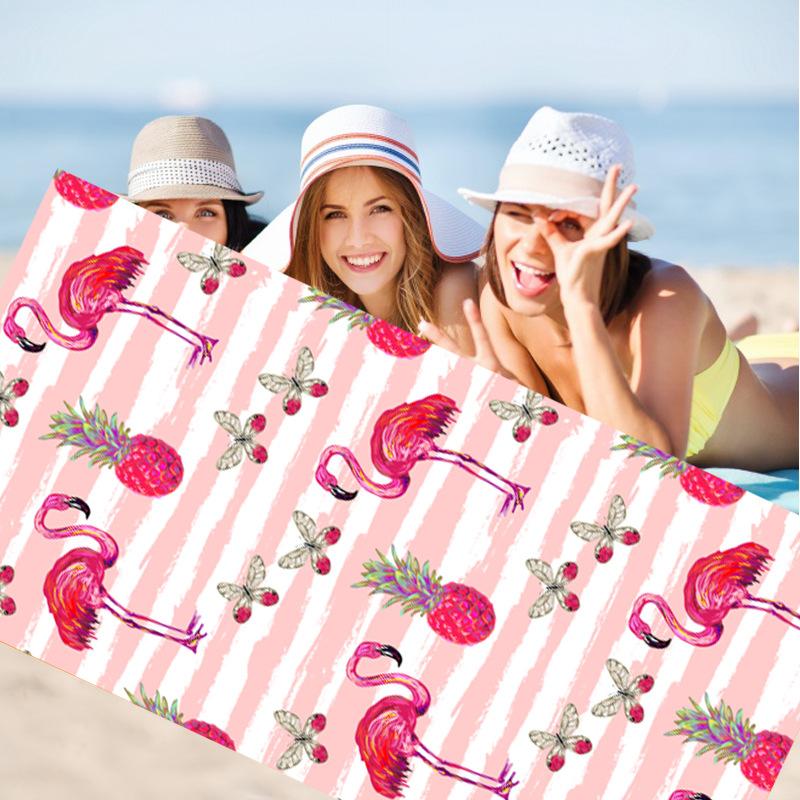 FUTIAN Khăn bãi cát Khăn tắm biển Microfiber tùy chỉnh khăn bãi biển bán chạy nhất mô hình in kỹ thu