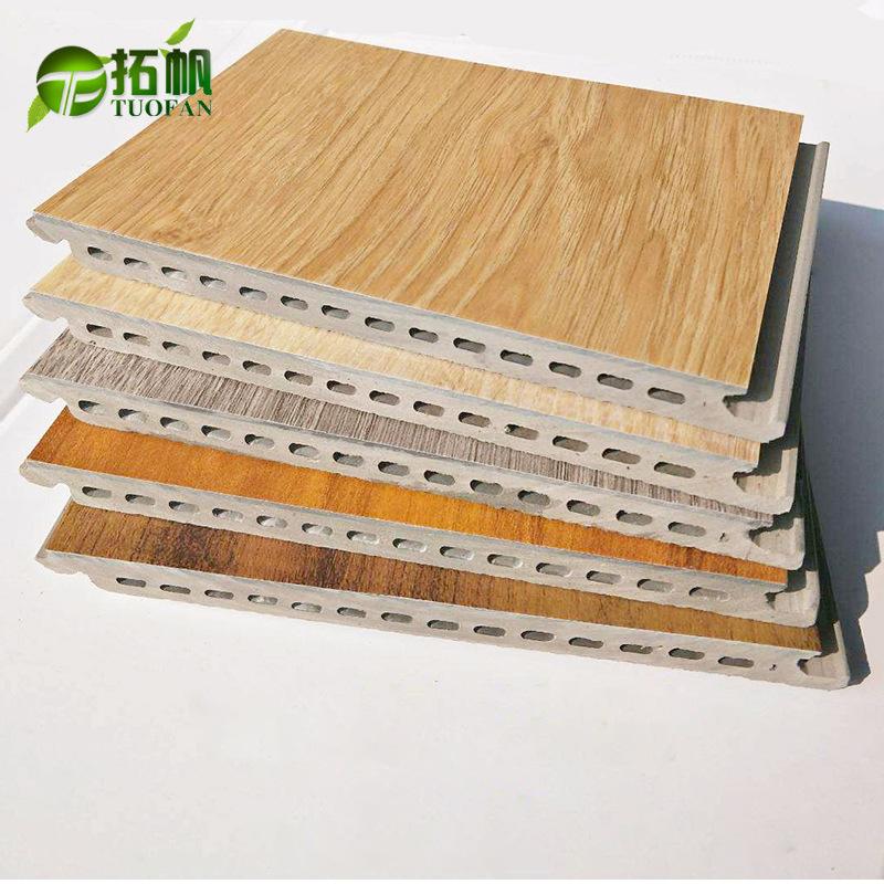TUOFAN Ván sàn Tre gỗ sợi tích hợp sàn Trong nhà hộ gia đình chống thấm nước chống cháy PVC composit