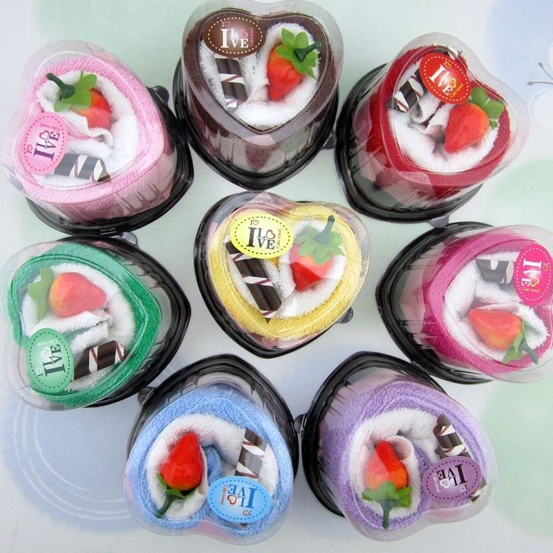 XIANGCAOSHAN Khăn bánh kem Ngày lễ tình yêu Tanabata Bánh tình yêu Quà tặng lễ kỷ niệm ngày cưới cho