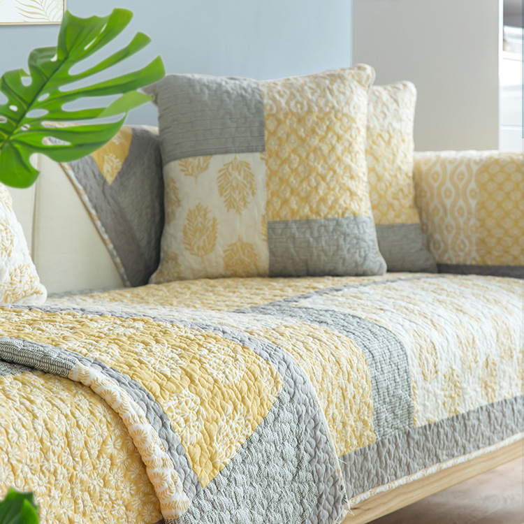 Đệm lót SoFa Bắc Âu giặt bông sofa đệm bốn mùa phổ vải đơn giản phòng khách hiện đại bao gồm tất cả