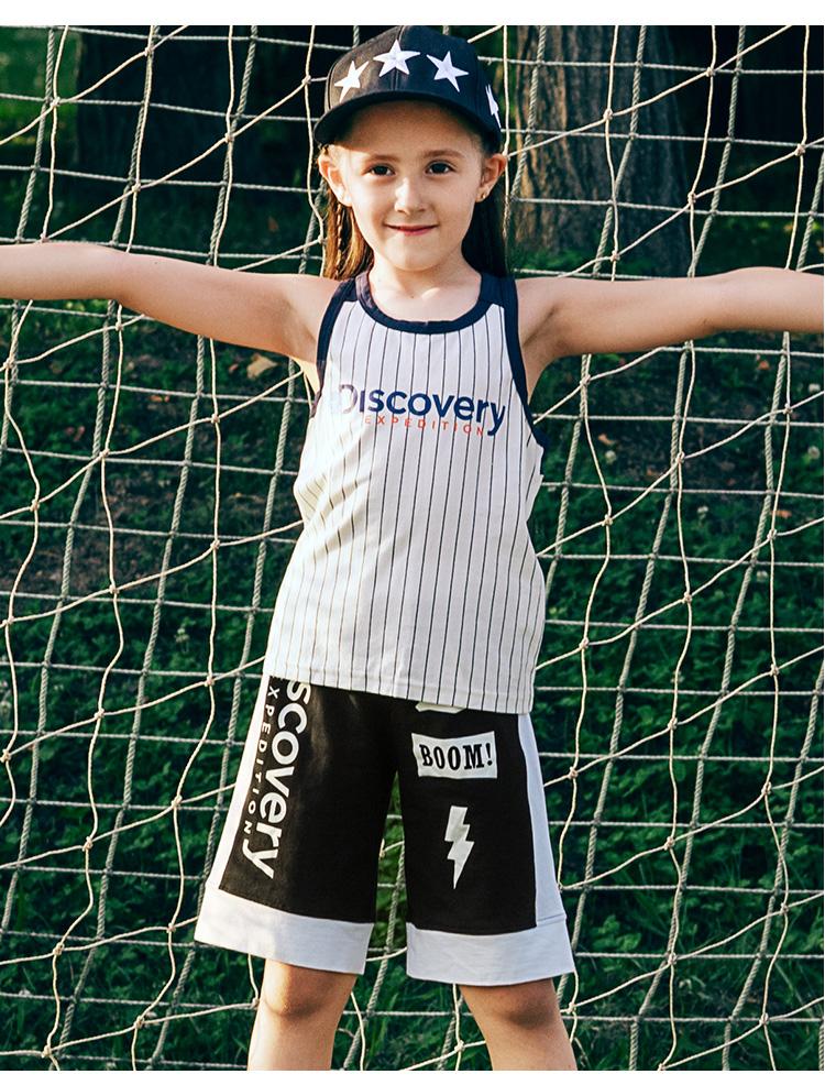 Đầm váy trẻ em Discovery Children's Wear 2007 Summer New Men's and Women's Printed Shorts DKA6295