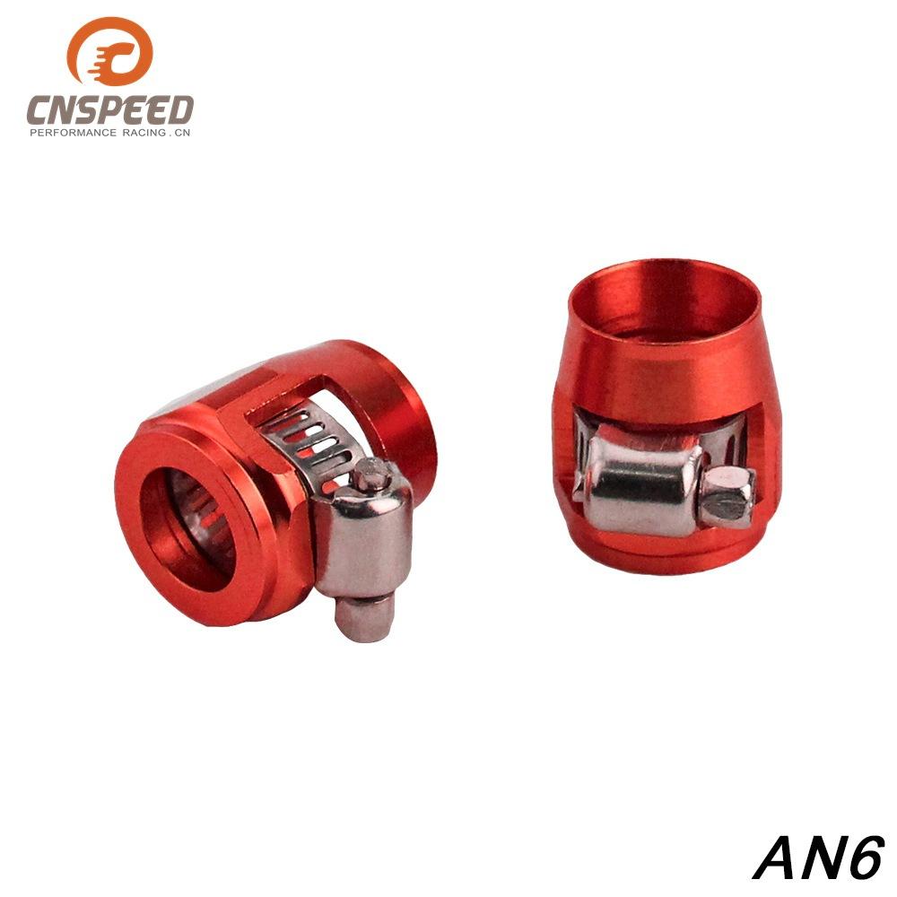 CNSPEED phụ tùng xe hơi Phụ kiện chỉnh sửa xe Phụ kiện kẹp ống AN6 Đỏ / tím / vàng / xanh / đen