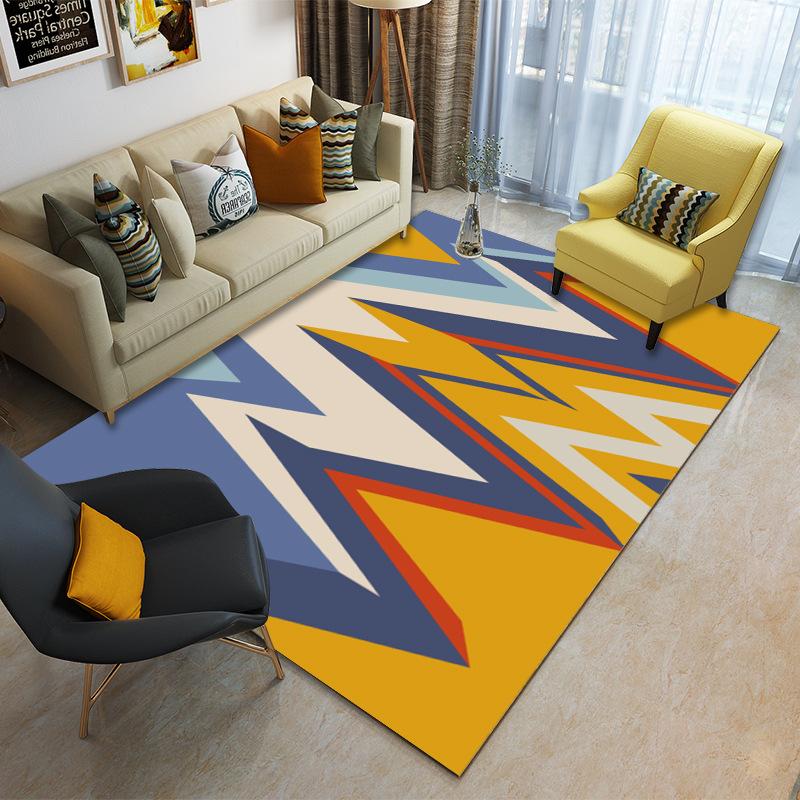 SHENGDA thảm lót Xuyên biên giới cho thảm phòng khách tối giản hiện đại Bắc Âu in hoa văn hình học s