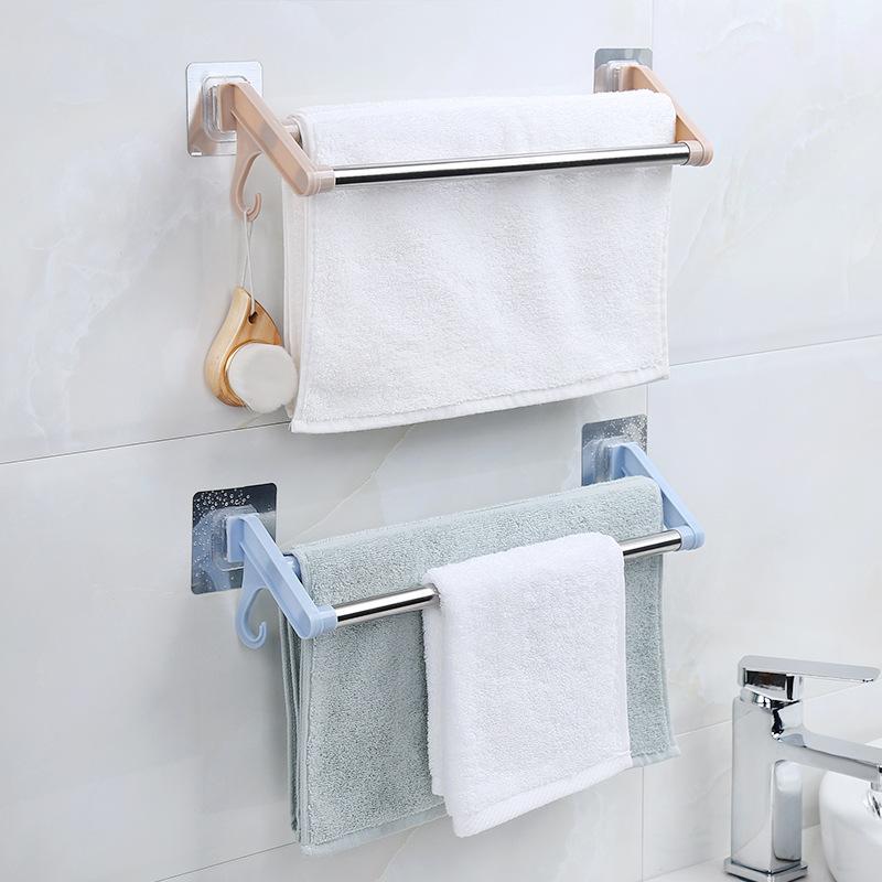 XINYOU Kệ khăn tắm Đấm khăn miễn phí giá phòng tắm phòng tắm bằng thép không gỉ đôi cực không có dấu