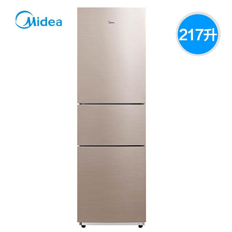 Midea Điện gia dụng chính hãng / Beauty BCD-217WTM 217 lít Tủ lạnh hai cửa làm mát bằng không khí ba