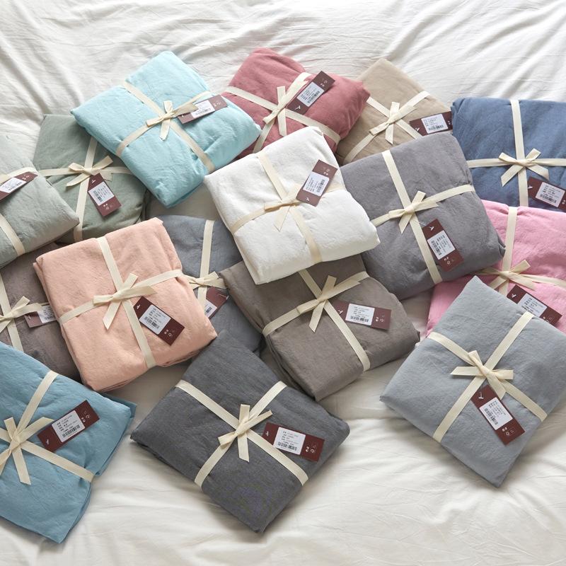 Drap giường Khăn trải giường bằng vải bông Tấm bông đơn 1,5m1,8 m trải giường dày Simmons tấm trải n